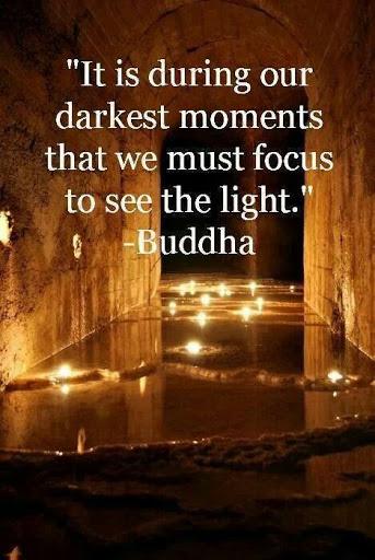 Buddha Quote Light