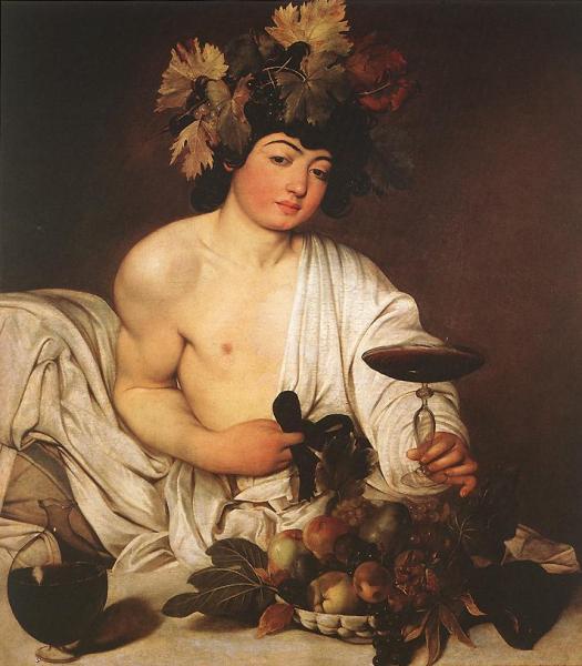 Dionysus Bacchus by Caravaggio