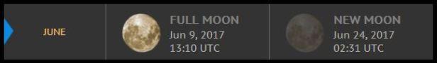 Full Moon New Moon June 2017