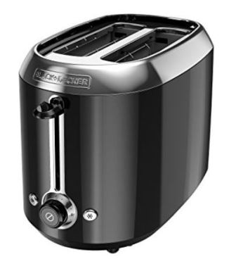 A PIN black decker 2 slice toaster black stainless steel