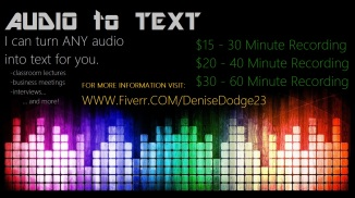 FLYER AUDIO TO TEXT FIVERR