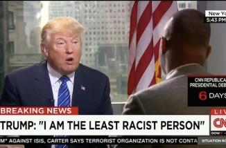 president trump least racist person