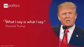 president trump what i say is what i say cnn