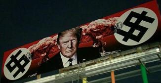 Trump Mushroom Cloud Dollar Sign Swastika Phoenix Arizona