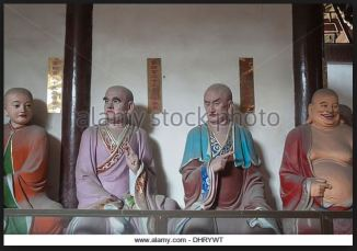 zen buddha statues disciples