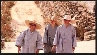 zen buddhist korean nun grey hats sun