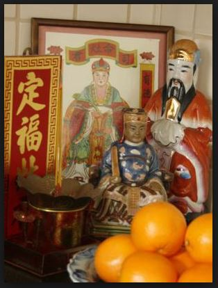 zen korean kitchen god altar
