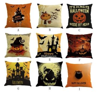 A PIN halloween decorations pillow covers 18 x 18 cotton linen throw pillow case