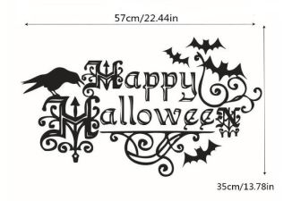 A PIN happy halloween wall sticker decorative stickers modern removable decal vinyl