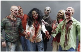 A PIN zombie horde value 6 pack halloween prop the walking dead haunted house corpse back from the grave