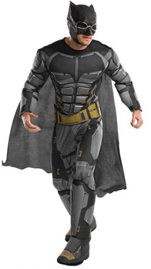 AMAZON justice league deluxe tactical batman mens costume