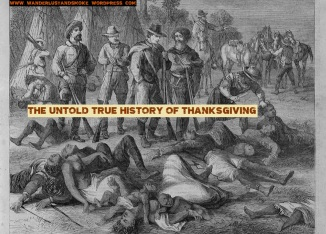 genocide thanksgiving pilgrims natives