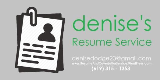 DENISE'S RESUME SERVICE