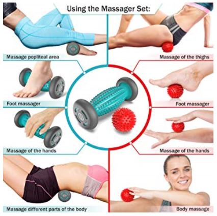 07 Foot Massager Roller + Ball for plantar fasciitis