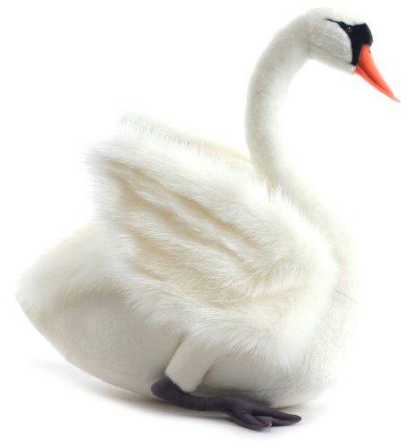 Hansa Swan Plush, White by Hansa .jpg