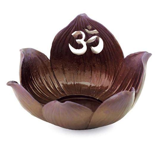 Lotus Candle Holder Om Symbol Top Incense Burner and Votive T-light Candle Holder Pedestal .jpg