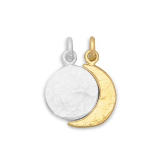 West Coast Jewelry Two Tone Full Moon and Crescent Moon Charm Set .jpg
